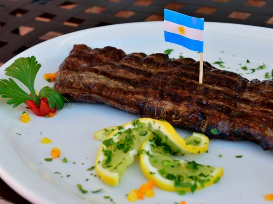 An Argentine Grilled Skirtsteak at the El Tango Argentina Grill