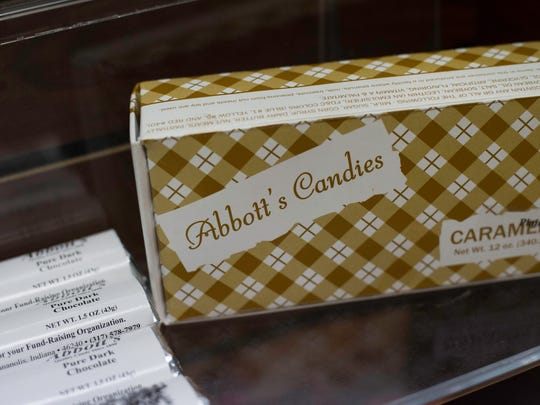 A box of Abbott's Candies is seen at O'Onda Gallery