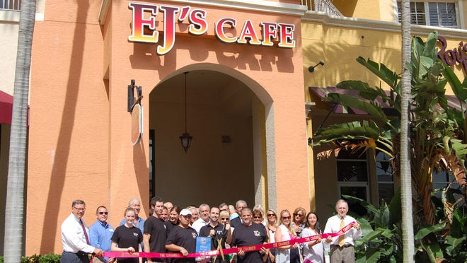 The Greater Naples Chamber of Commerce welcomed EJ's Bayfront Cafe with a ribbon-cutting ceremony.