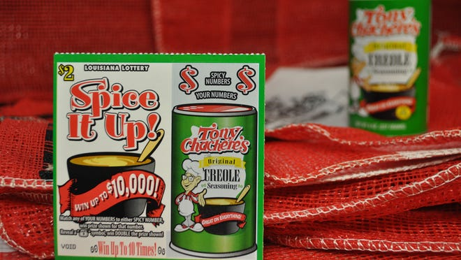 "The new ""Spice It Up!"" scratch-off game from the Louisiana Lottery was introduced on Monday, featuring the famous green can of Tony Chachere's Famous Creole Seasoning."