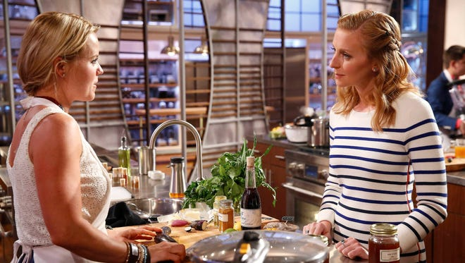 "Contestant Katie Dixon and judge Christina Tosi are shown in the ""5 Star Food/Hot Potato"" episode of ""MasterChef"" on Fox."