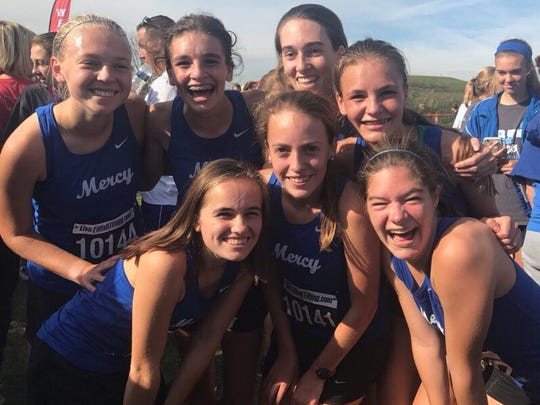 Mother of Mercy's regional qualifying cross country team after placing fifth at districts on Oct. 21, 2017.
