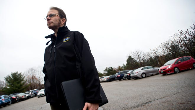 Director of Public Works Chapin Spencer stands on a portion of the Champlain Parkway in Burlington's South End on December 2, 2015.
