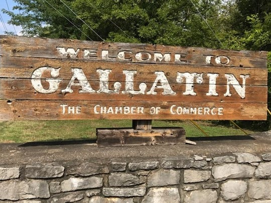 The Gallatin sign was in need of some TLC, and the Gallatin Noon Rotary Club decided to paint it as part as a service project.