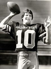 Mike Pagel during his playing days at ASU.
