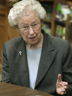 """Sister Marie Kevin Tighe (pronounced """"TIE""""), who grew up in southern Indiana and who joined the Sisters of Providence of St. Mary-of-the-Woods in 1942, died May 19, 2014. She was 89."""