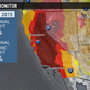 Top-level drought expands in California.