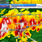 This radar image from KLFY shows strong storms moving across Acadiana on Sunday, May 1, 2016.