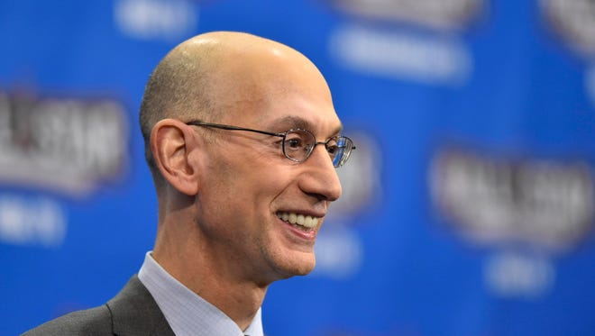 Feb 13, 2016: NBA commissioner Adam Silver speaks to the media during the NBA All Star Saturday Night at Air Canada Centre.