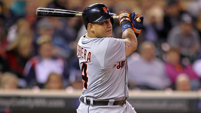 Miguel Cabrera will win the batting title again with a .350 average and leads the league with 137 RBI.