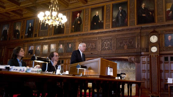 Attorneys argue at the New York State Court of Appeals