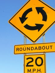 Roundabout sign