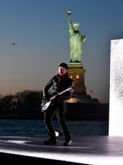 The Edge of U2 performs remotely during the 60th Annual