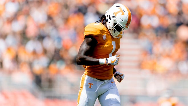 Vols wide receiver Marquez Callaway had 24 catches for 406 yards and five touchdowns last season as a sophomore.