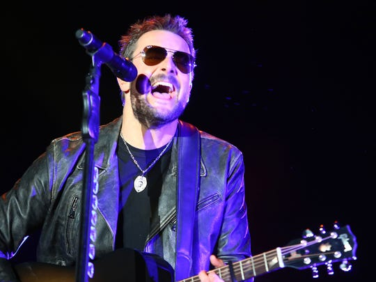 Eric  Church perfoms at Stagecoach in Indio, April 29, 2016.