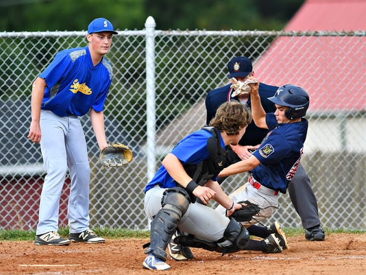 Stewartstown vs Pleasureville American Legion baseball