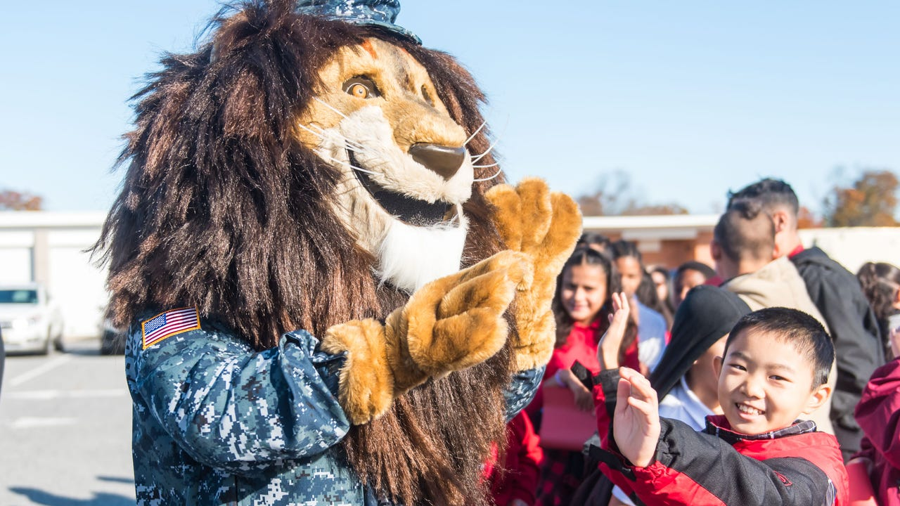 Kicking up school spirit a notch, Veterans Memorial School in Vineland introduced new mascot Sgt. Roary the Lion on Monday, November 11.