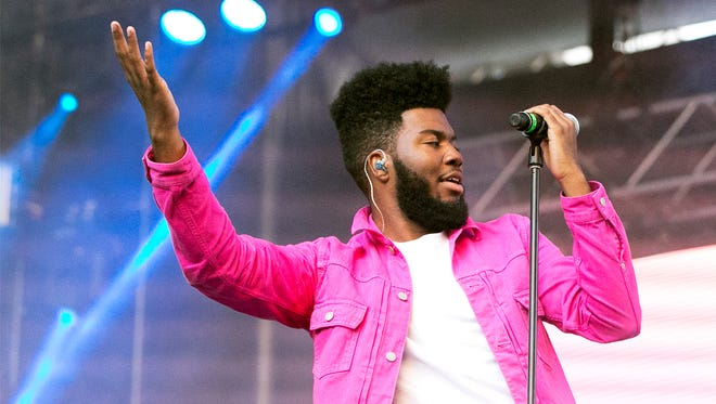 Singer-songwriter Khalid performs to an enthusiastic hometown crowd in May at the Neon Desert Music Festival 2017 in Downtown El Paso.