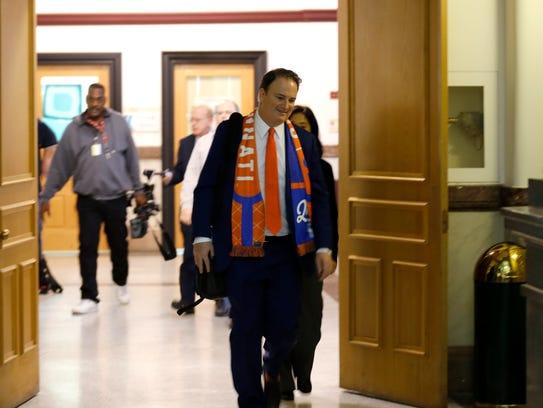 FC Cincinnati general manager Jeff Berding leaves the