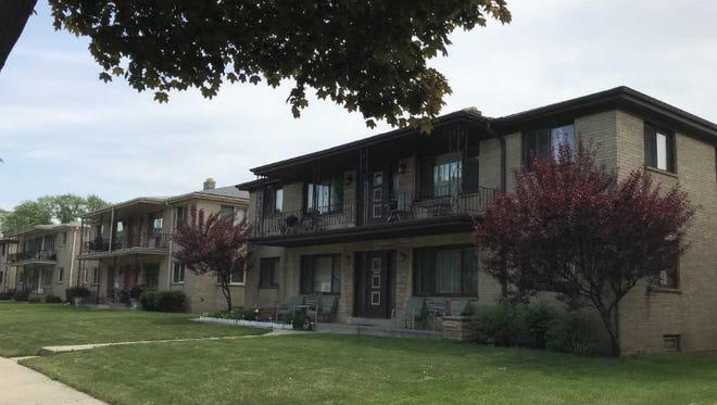 A man is accused of sitting nude on the second floor balcony of one of the apartments in the 9800 block of West Manitoba Street.