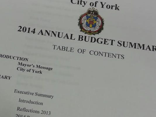 York passed a 2014 budget that did not include a tax increase.