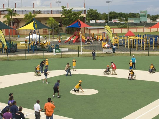 A Miracle League field in Puerto Rico.