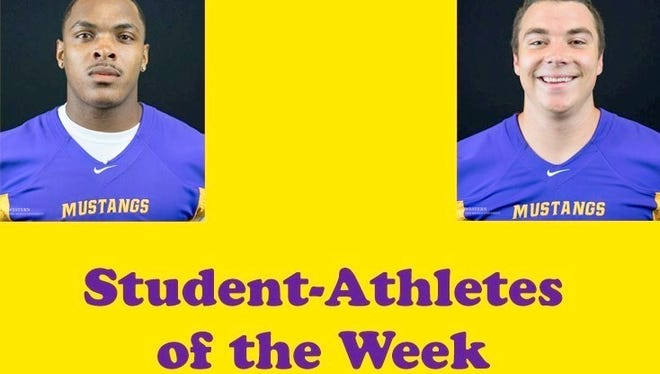 Alfonso Wilson and Josh Mcintire were named RMAC Players of the Week and also WNMU Student-Athletes of the Week.