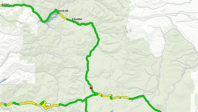A crash closed lanes of Highway 22 near Santiam Junction Monday morning.