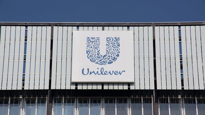 The exterior of a Unilever office building.