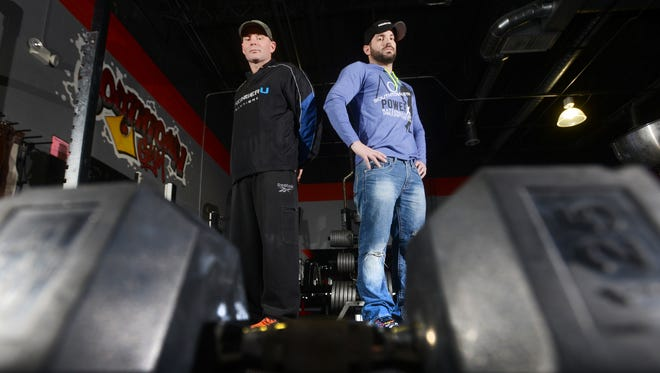 Clint Beach and David Durst, left, are headed to the PowerX Championships at the Arnold Sports Festival in Columbus this weekend. The two also trained 14 area body builders who will compete as well.