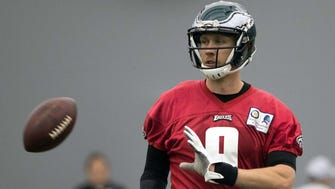 Nick Foles led the Philadelphia Eagles to a Super Bowl victory over the New England Patriots in February, but will begin the 2018 season as the backup to Carson Wentz.