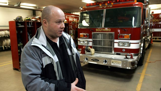 A photo of Chris Jackson, Howell's former land use director, from 2005 when he was first assistant chief of the Southard Fire Department.