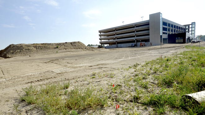 The parking ramp of The Heights at Eastwood is shown while construction continued in this June 2012 photo.