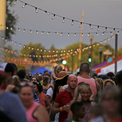 Bazaar After Dark filled the streets of downtown Menasha