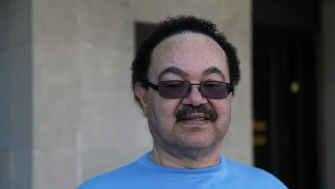 Dr. Lafayette Twyner Jr. outside of the Des Moines Federal courthouse on May 29, 2014.