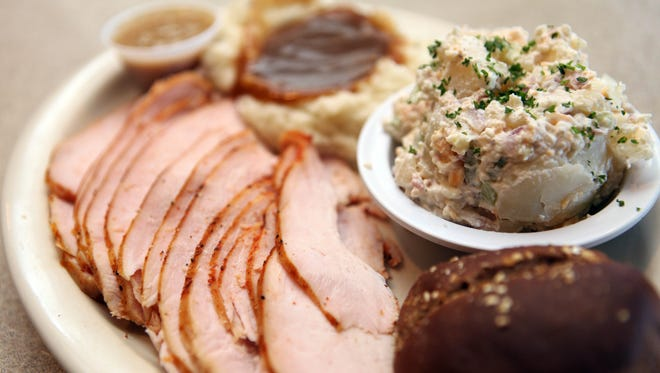 The turkey platter from Dillon'??s Restaurant in Litchfield Park.