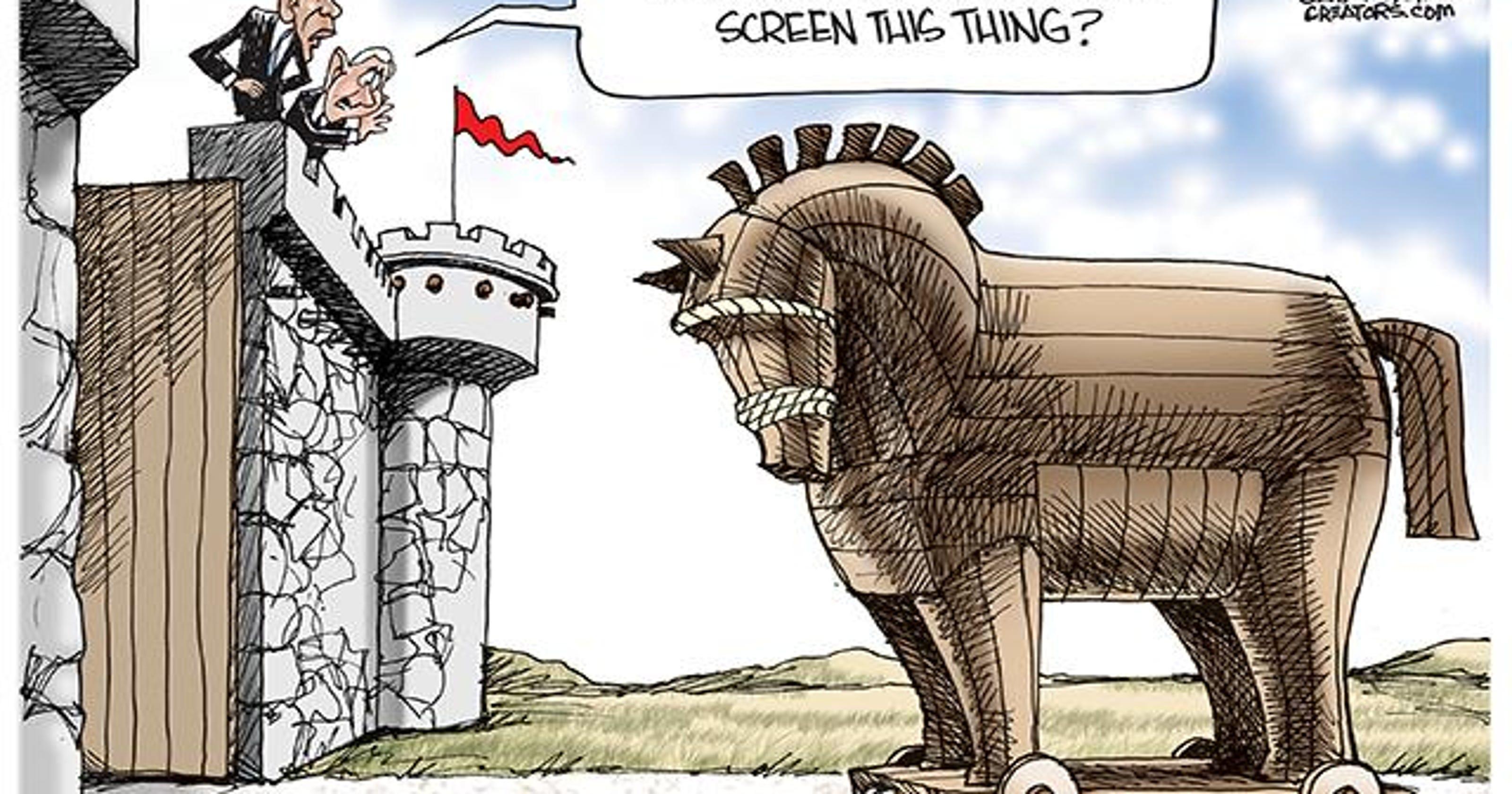 Cartoonist Gary Varvel: The Trojan horse  Cartoonist Gary...