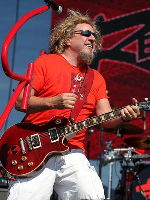 Sammy Hagar headlined the 2014 Carb Day concert at Indianapolis Motor Speedway.