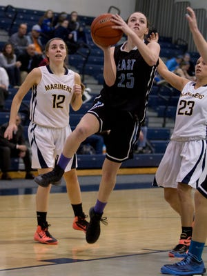 Toms River East vs Toms River North Girls basketball in  Toms River NJ, on January 28,  2015.   Peter Ackerman/Staff Photographer