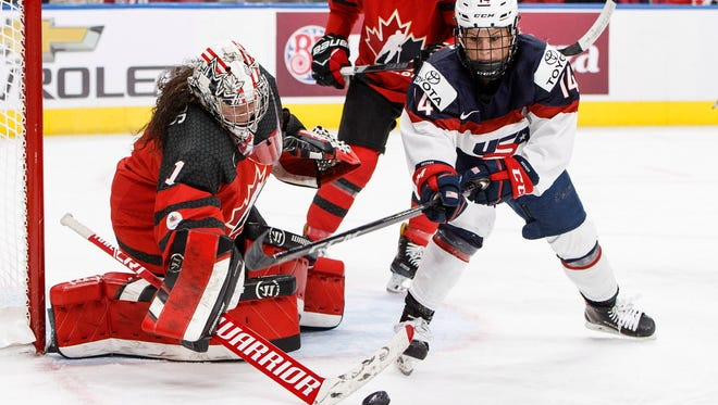 Former UW hockey star Brianna Decker will represent Team USA in the Winter Olympics.