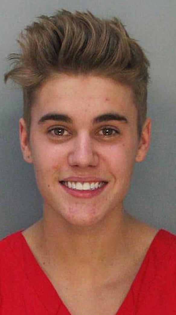 ジャスティン・ビーバーの逮捕時のヘアスタイル