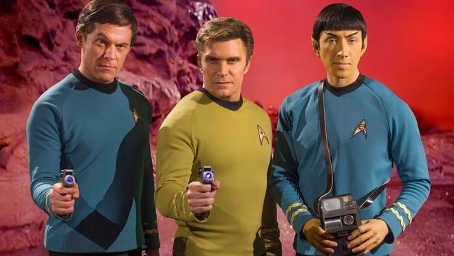 From left: Chuck Huber as McCoy, Vic Mignogna as Kirk, and Todd Haberkorn as Spock in 'Star Trek Continues'
