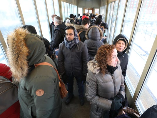 Yonkers train station cold commuters