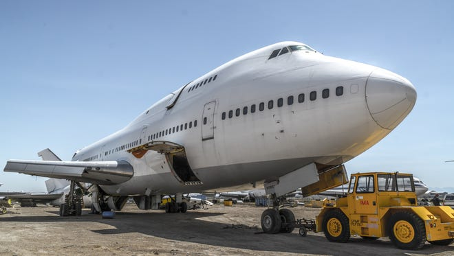 An image of the 747 plane, a section of which will be installed as an art piece during Burning Man 2016.