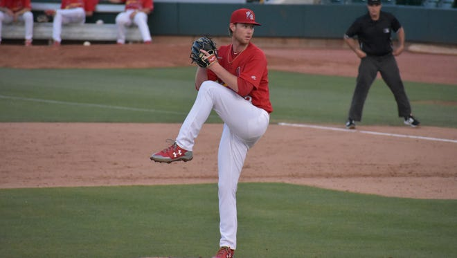 Casey Meisner performs well at the Advanced-A level with the Palm Beach Cardinals.