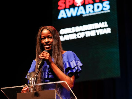 Girls Basketball Playerof the Year Rickea Jackson speaks