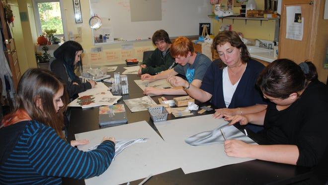 Art Class at Soundview Preparatory School, with teacher Melinda Franz.
