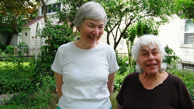 Sister Veronica Blake, left, and Sister Concepcion Gonzalez facilitate the Full Circle EcoHouse of Prayer in Port Huron.