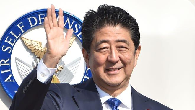 Japan's Prime Minister Shinzo Abe appears in Tokyo Nov. 17, 2016.
