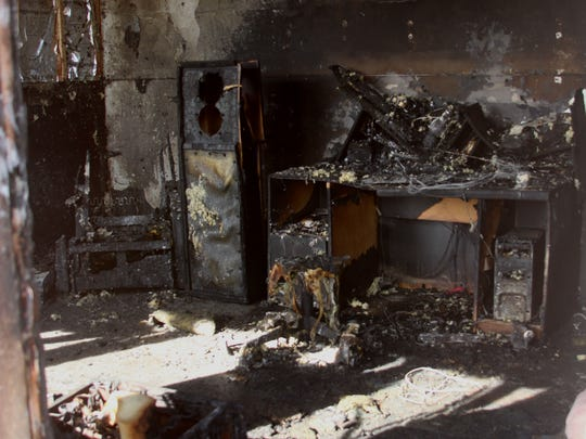The inside of Michael Doty's home was destroyed by